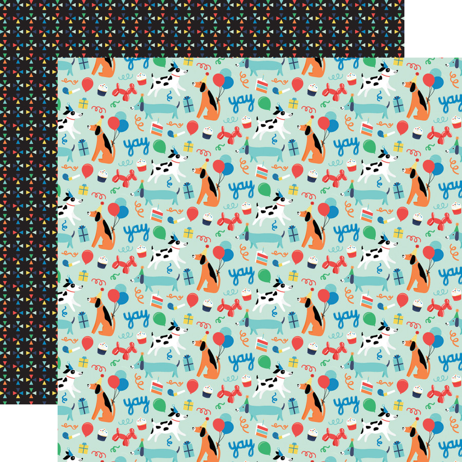 It's Your Birthday Boy: Dog Party 12x12 Patterned Paper