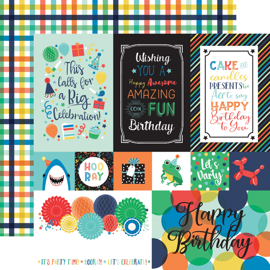 It's Your Birthday Boy: Multi Journaling Cards 12x12 Patterned Paper