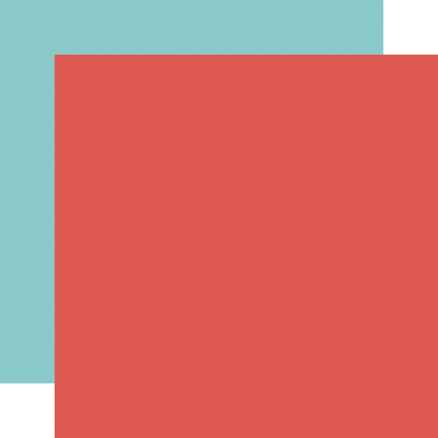 It's Your Birthday Boy: Red/Teal 12x12 Solid Paper