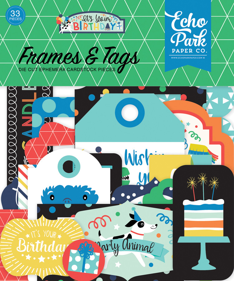 It's Your Birthday Boy: Frames & Tags