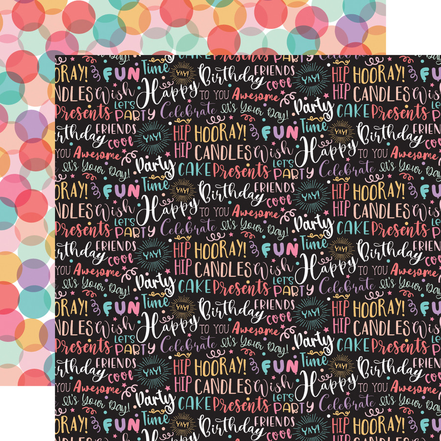 It's Your Birthday Girl: Birthday Girl Words 12x12 Patterned Paper