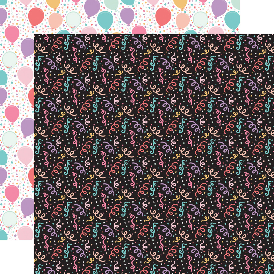 It's Your Birthday Girl: Girl Confetti 12x12 Patterned Paper