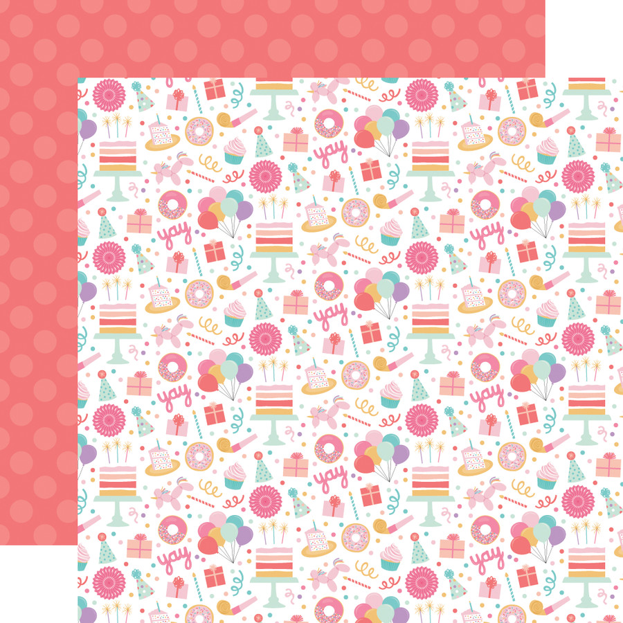 It's Your Birthday Girl: Birthday Girl Fun 12x12 Patterned Paper