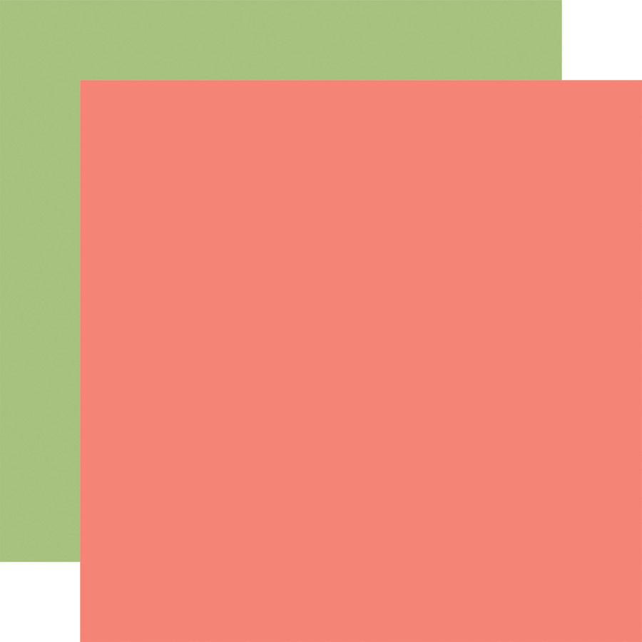 Baby Girl: Pink/Green 12x12 Solid Paper