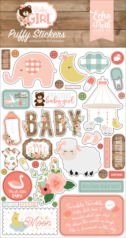 Baby Girl: Puffy Stickers