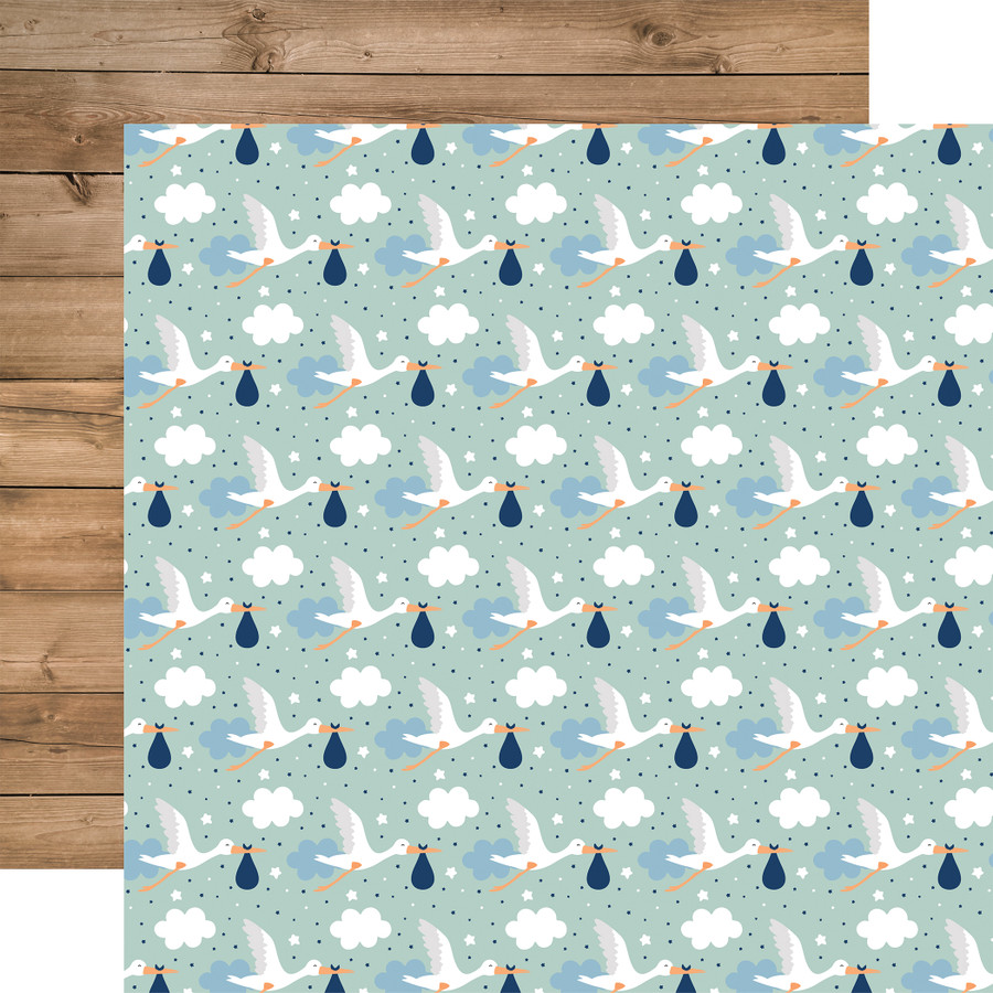 Baby Boy: Welcome Baby Boy 12x12 Patterned Paper