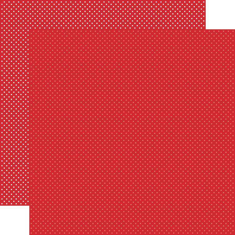 Carta Bella Dots & Stripes: Red Dots 12x12 Patterned Paper