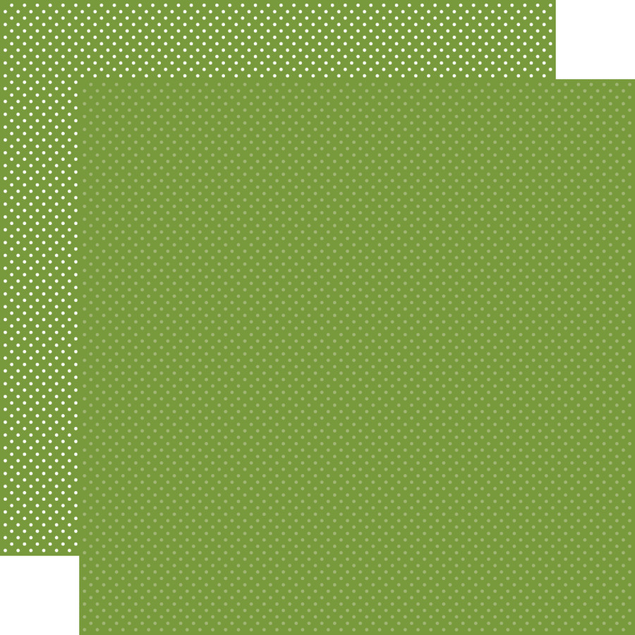 Carta Bella Dots & Stripes: Leaf Green Dots 12x12 Patterned Paper