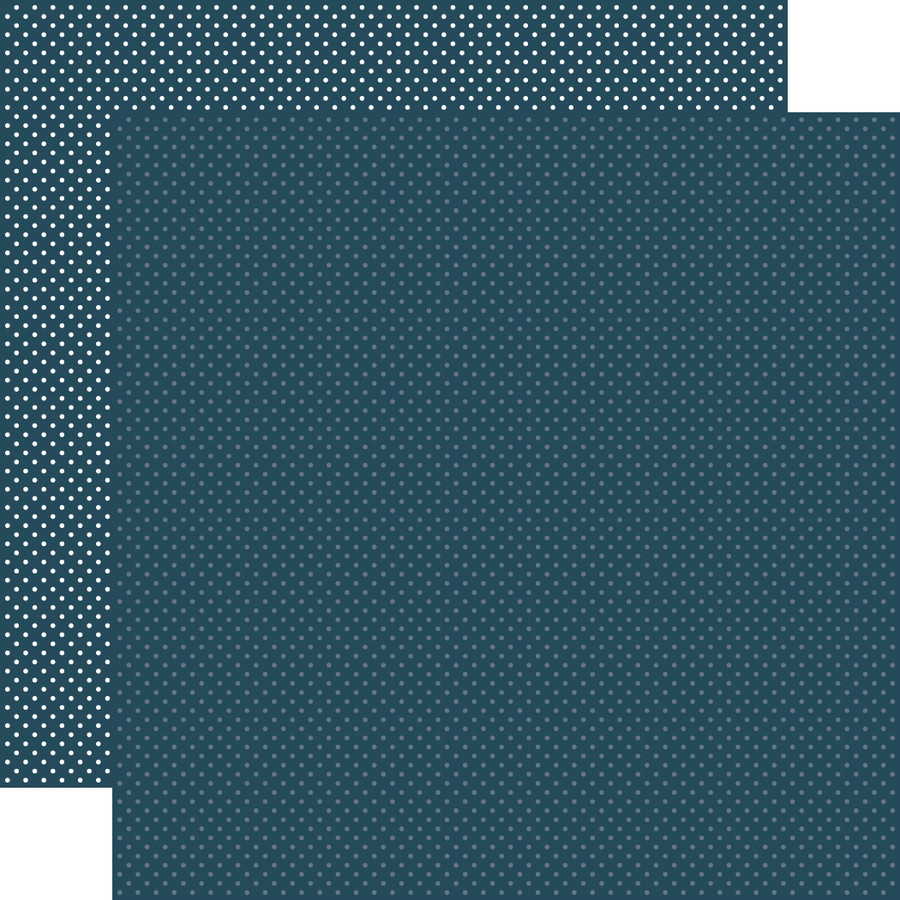 Carta Bella Dots & Stripes: Navy Dots 12x12 Patterned Paper