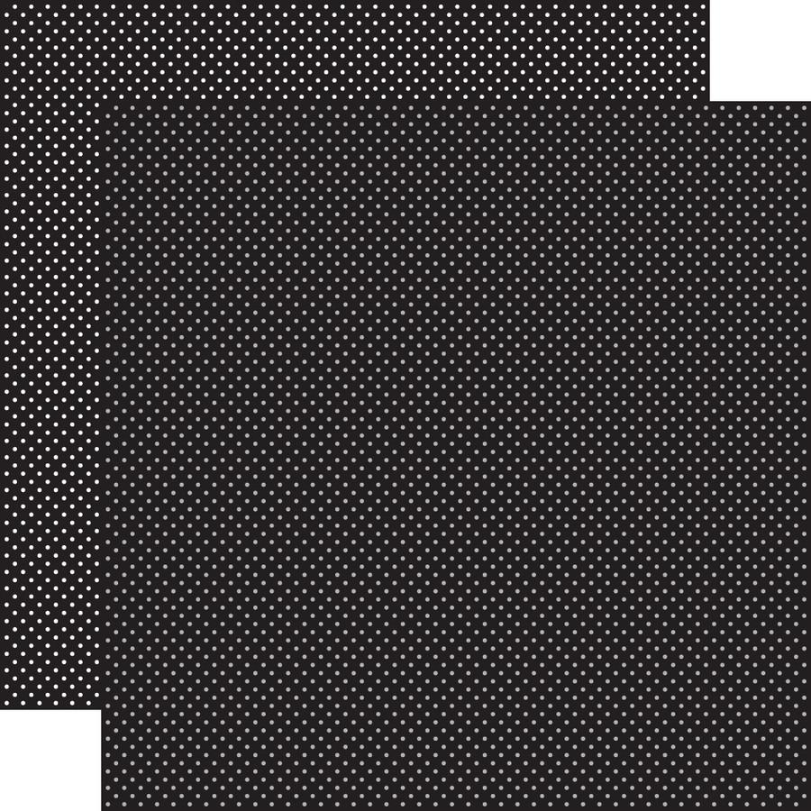 Carta Bella Dots & Stripes: Black Dots 12x12 Patterned Paper