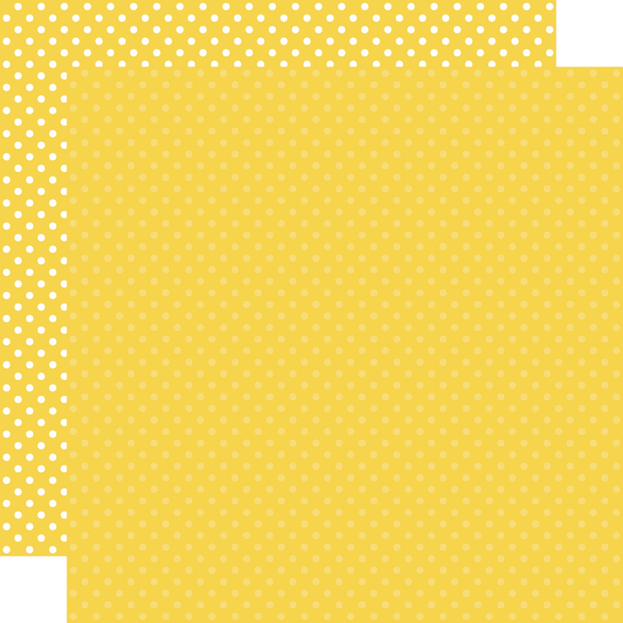 Dots & Stripes: Yellow 12x12 Patterned Paper