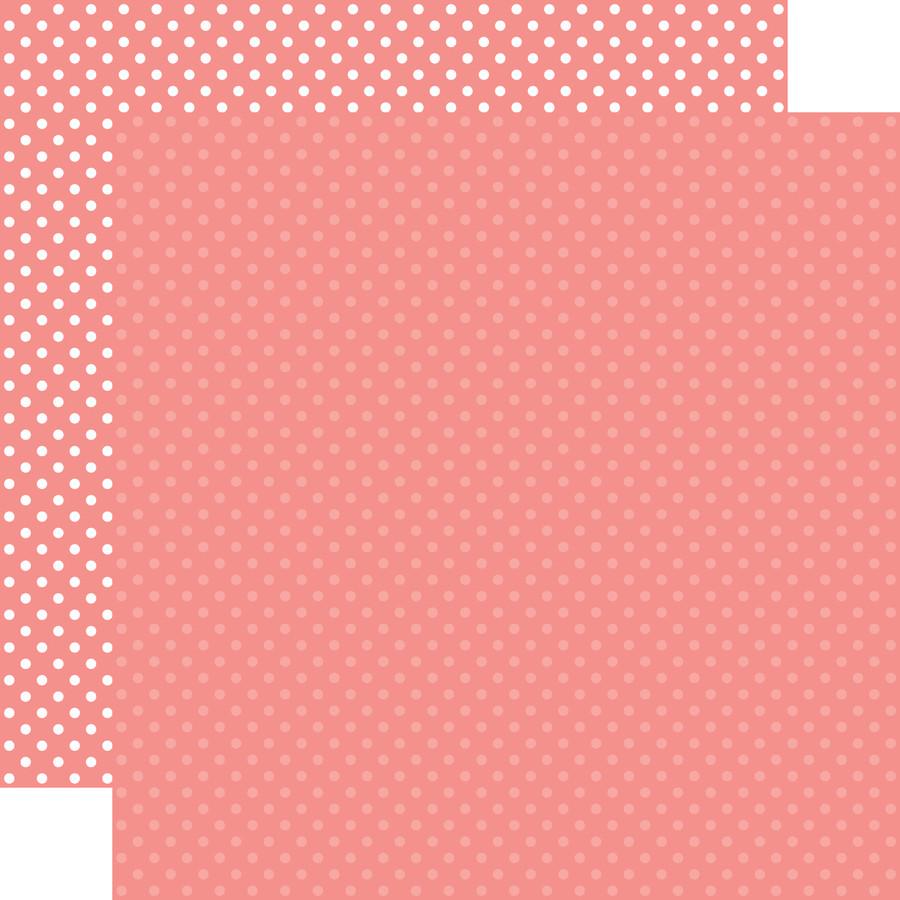 Dots & Stripes: Salmon Pink 12x12 Patterned Paper