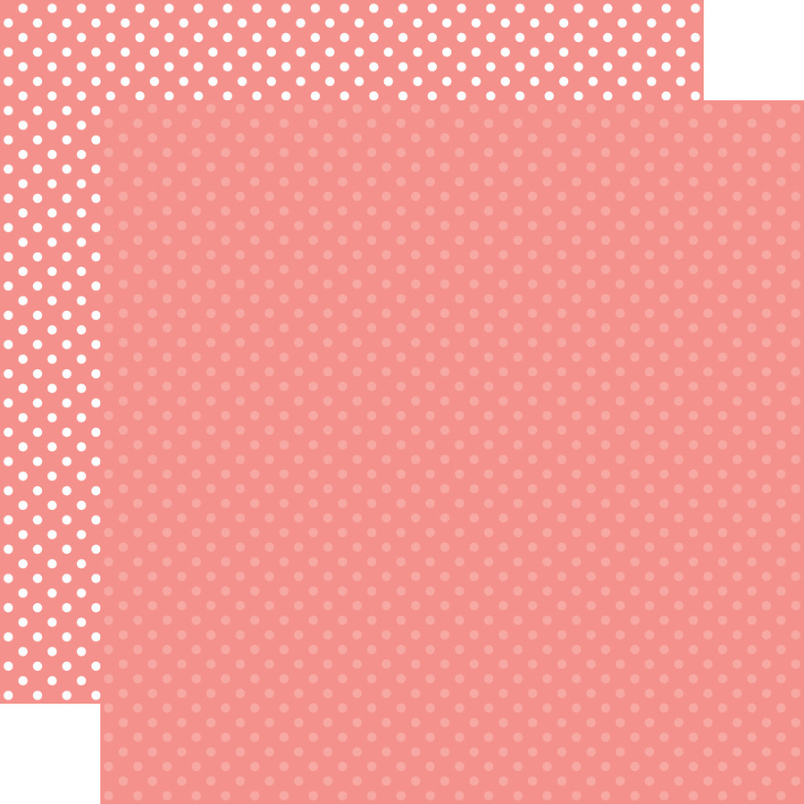 Dots & Stripes: Salmon Pink 12x12 Patterned Paper