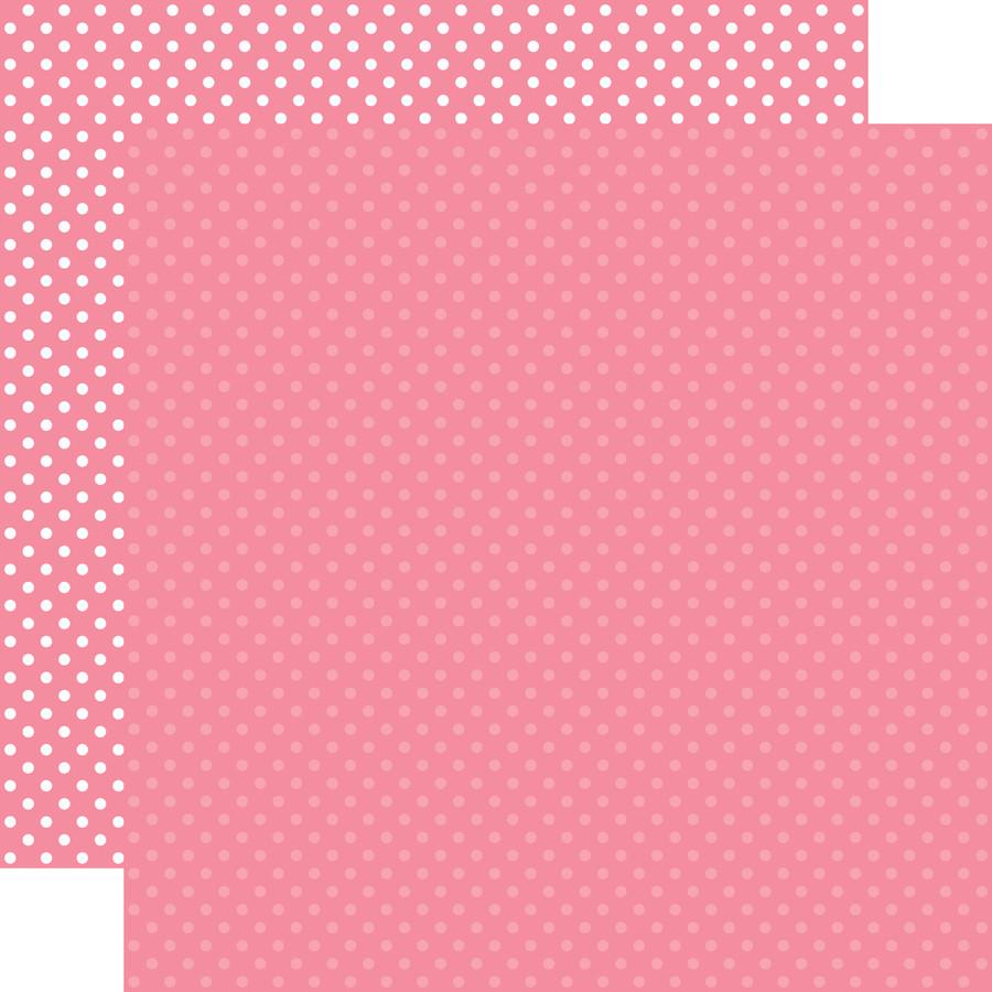 Dots & Stripes: Bubblegum Pink 12x12 Patterned Paper