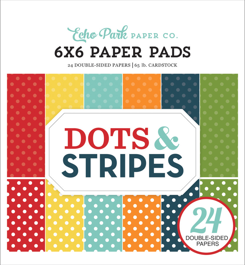 Dots & Stripes: Summer 6X6 Paper Pad