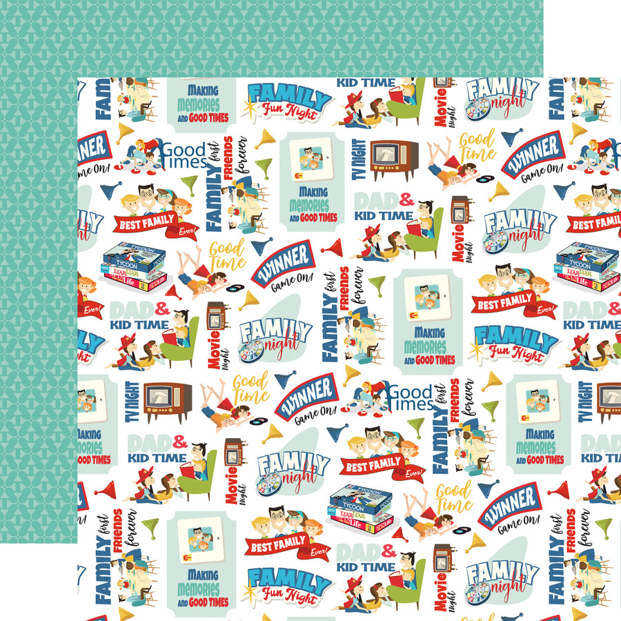 Family Night: Family Fun Night 12x12 Patterned Paper