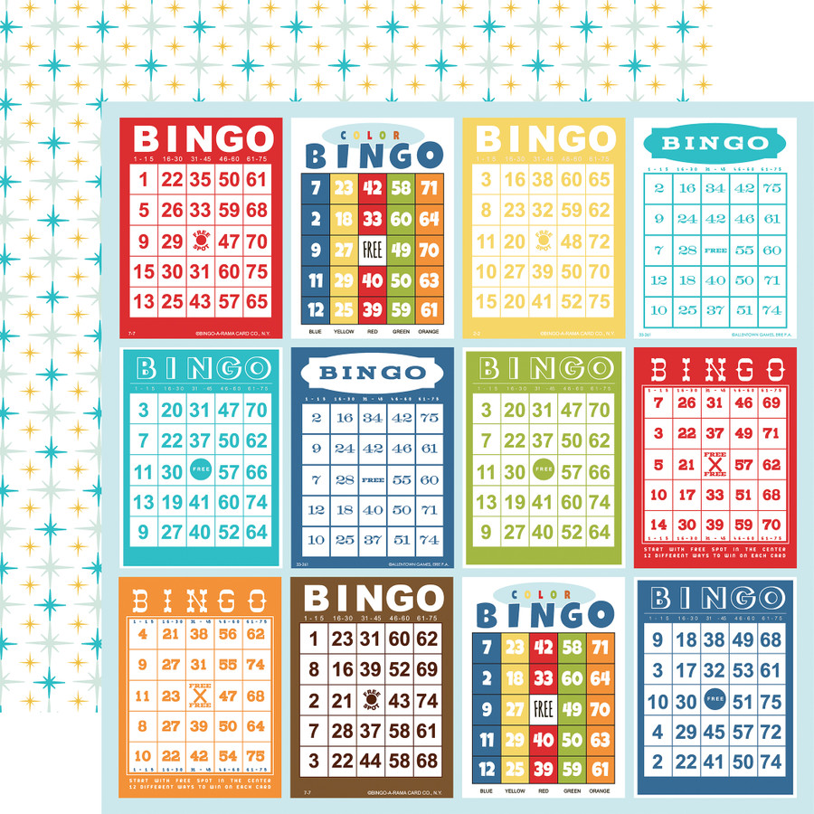 Family Night: Bingo Cards 12x12 Patterned Paper