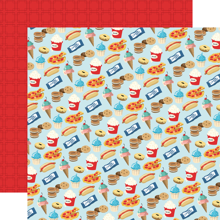 Family Night: Snack Time 12x12 Patterned Paper