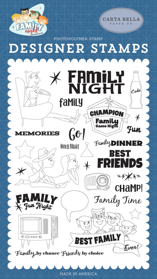 Family Night: Family Time Stamp Set