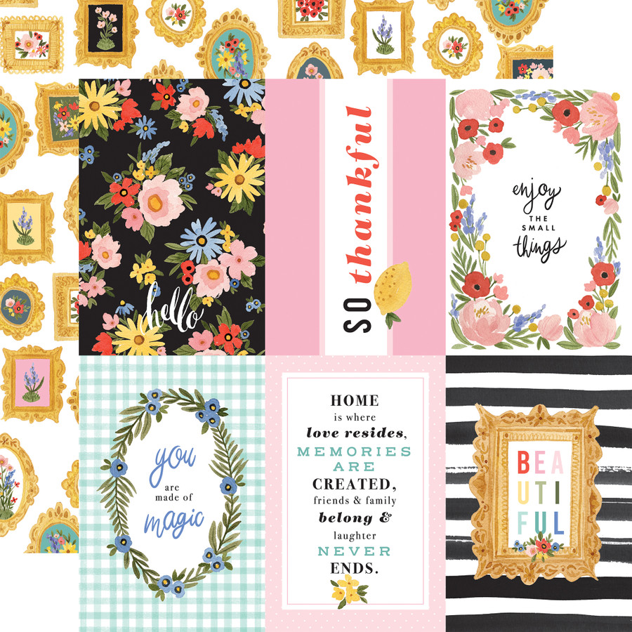 Oh Happy Day: 4X6 Journaling Cards 12x12 Patterned Paper