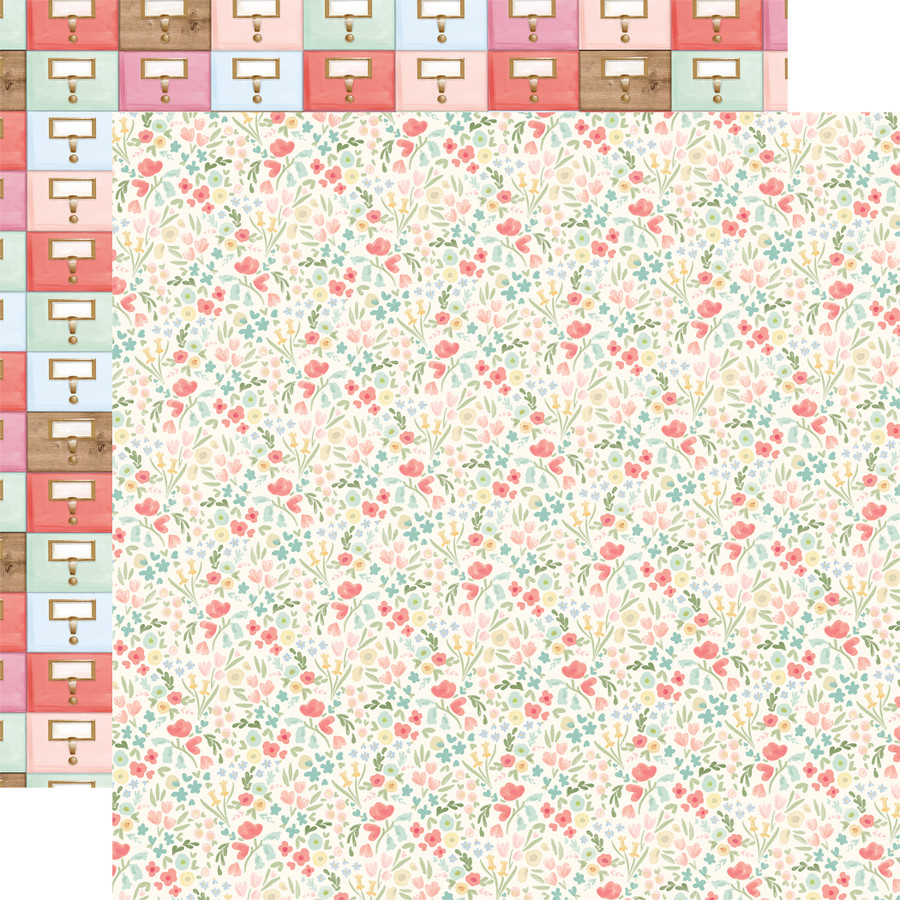 Farmhouse Market: Antique Floral 12x12 Patterned Paper