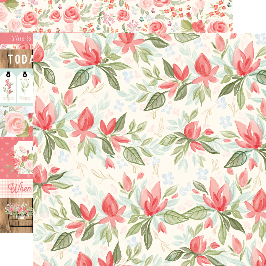 Farmhouse Market: Timeless Floral 12x12 Patterned Paper