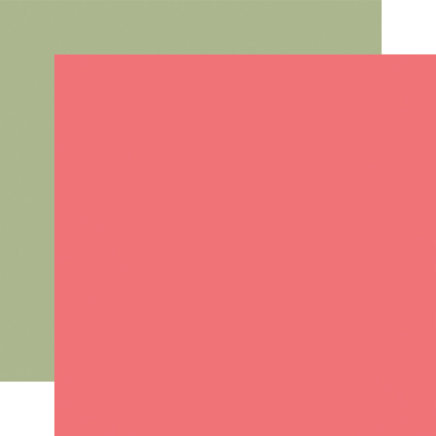 Farmhouse Market: Pink / Green 12x12 Solid Paper