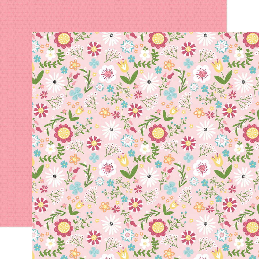 All Girl: All Girl Floral 12x12 Patterned Paper