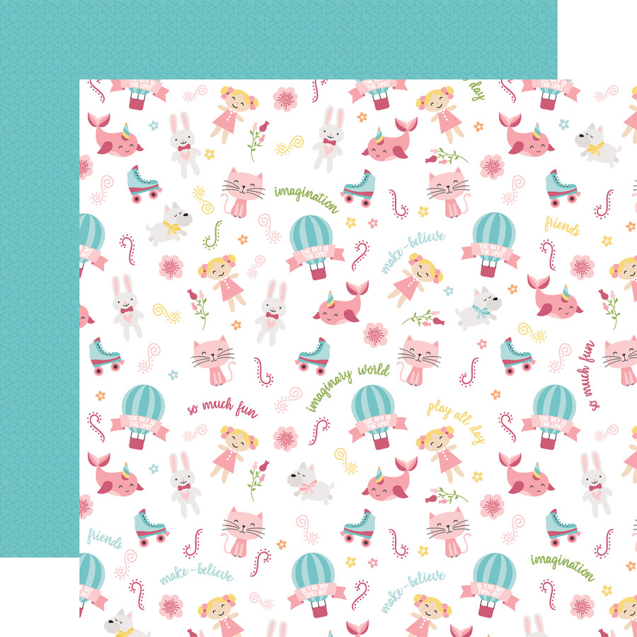 All Girl: Imagination 12x12 Patterned Paper