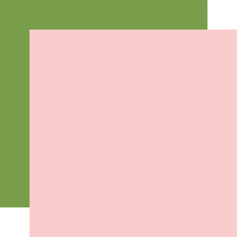 All Girl: Lt. Pink / Green 12x12 Solid Paper