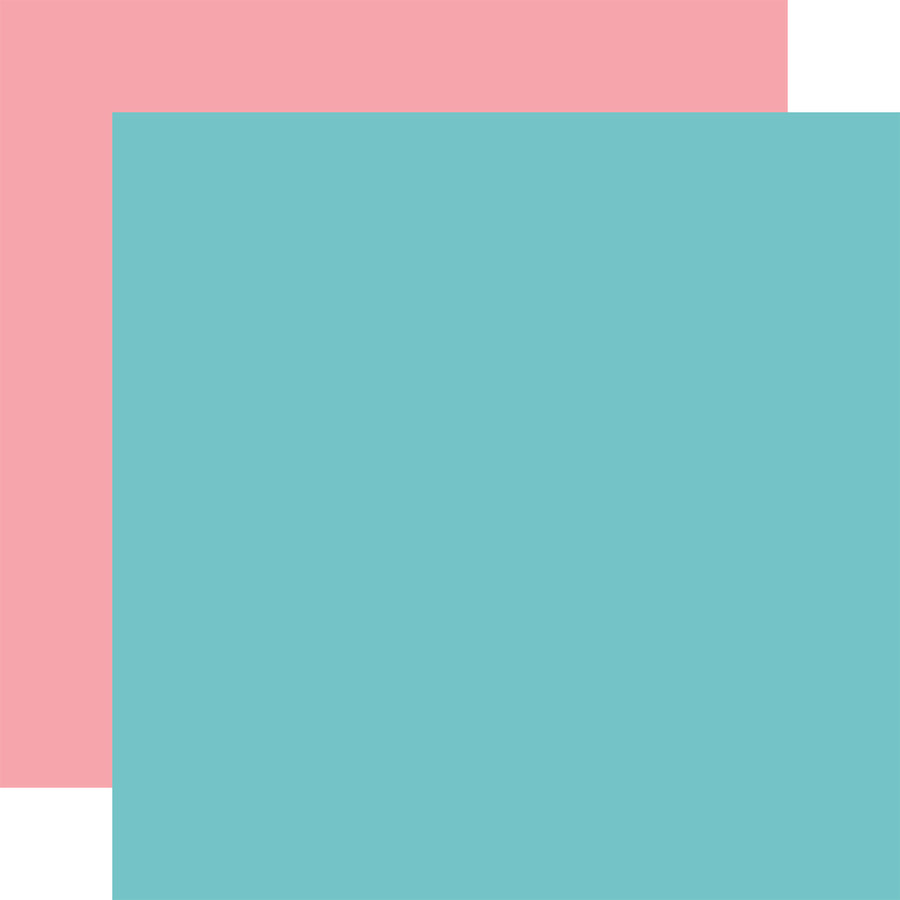All Girl: Teal / Pink 12x12 Solid Paper