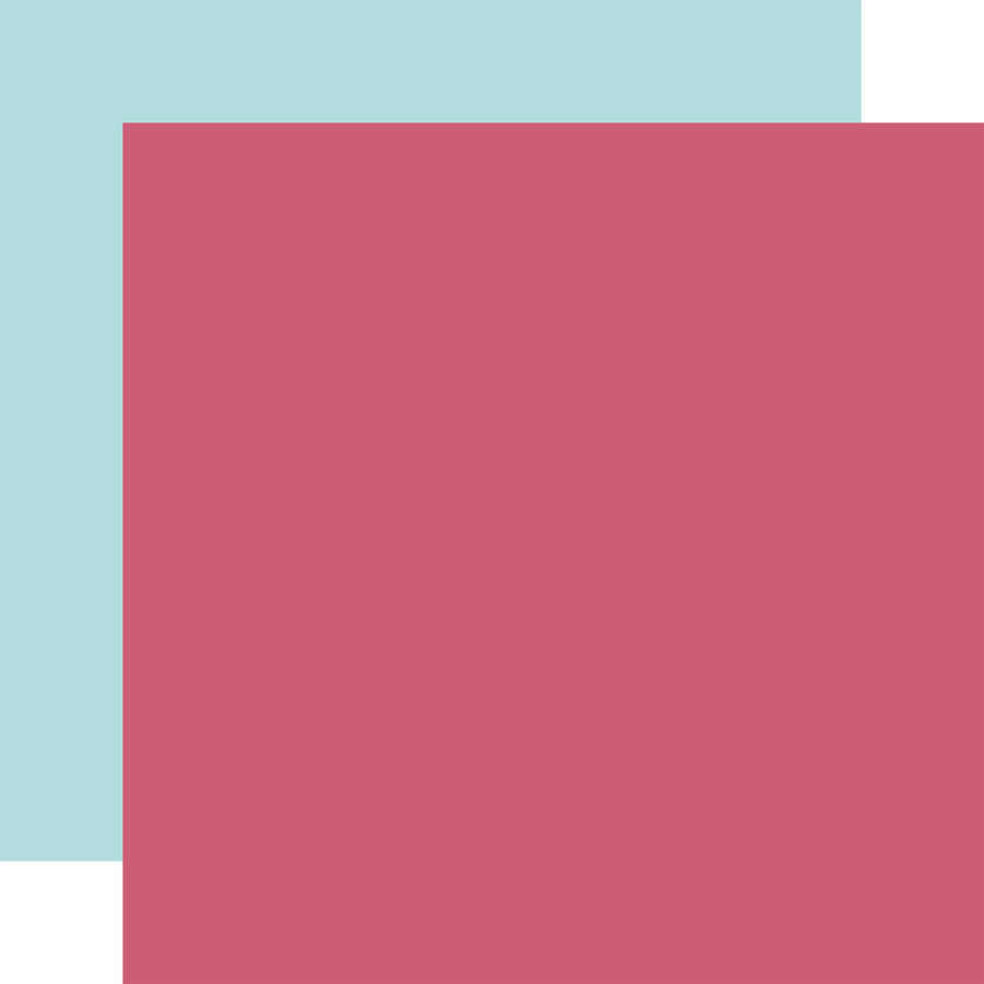 All Girl: Dk. Pink / Blue 12x12 Solid Paper