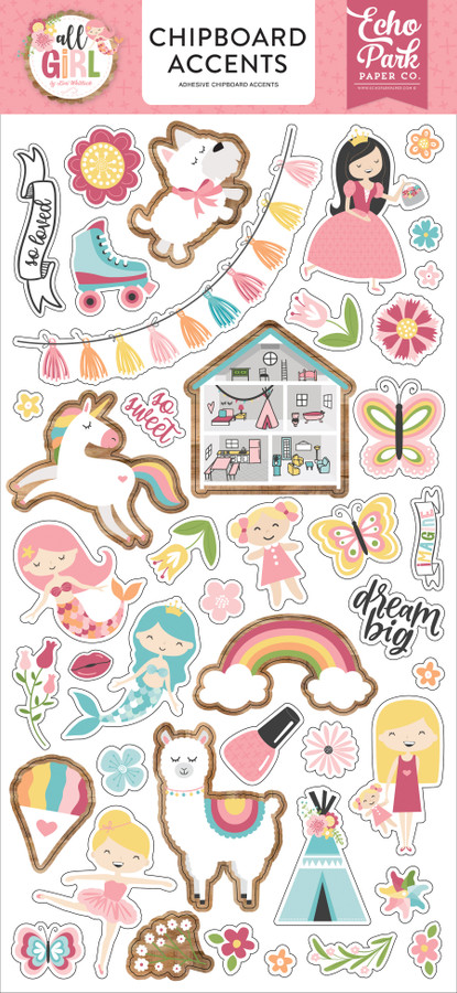 All Girl: 6x13 Chipboard Accents