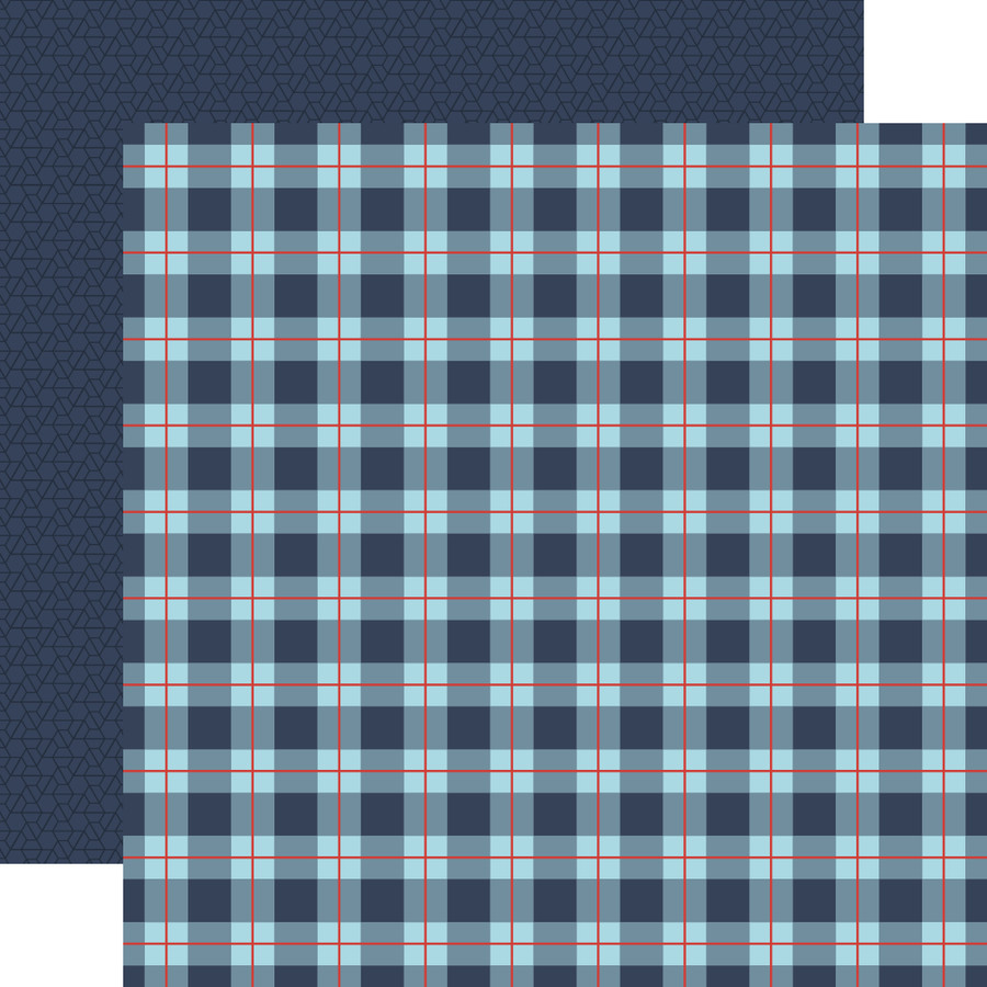 All Boy: All Boy Plaid 12x12 Patterned Paper