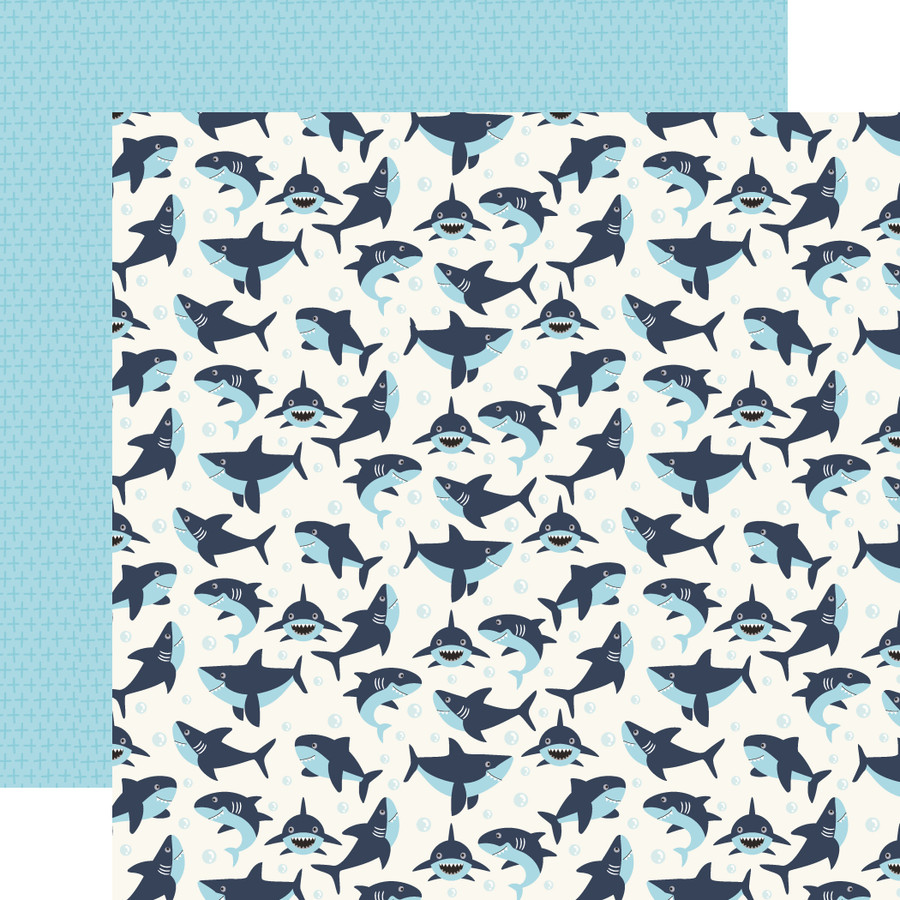 All Boy: Swimming Sharks 12x12 Patterned Paper