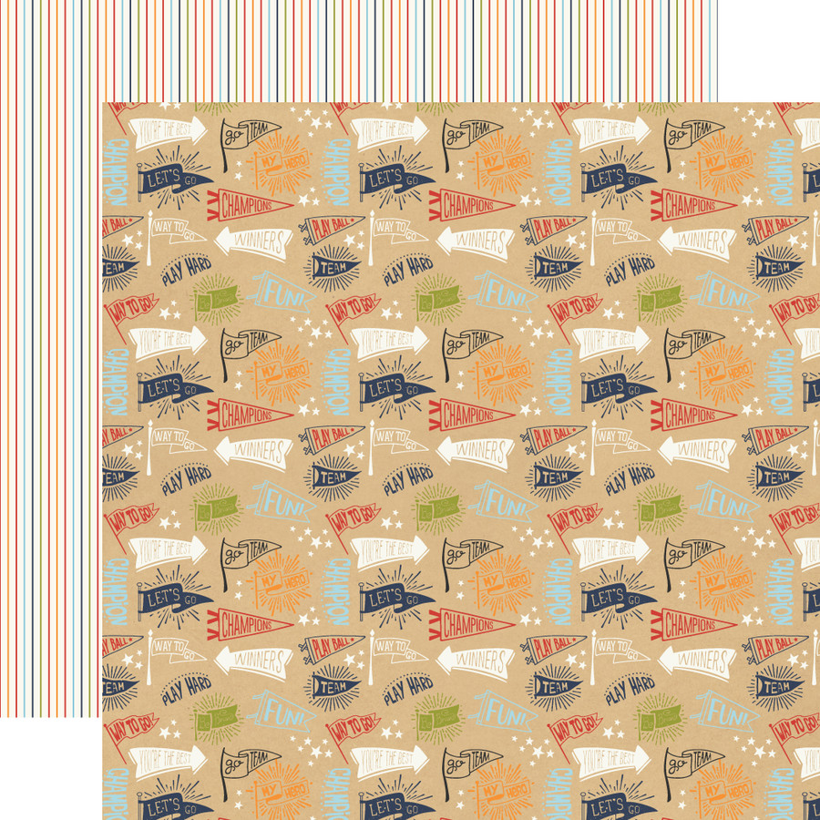 All Boy: Team Flags 12x12 Patterned Paper