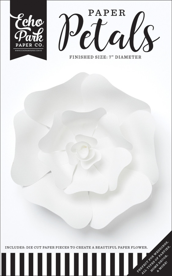 Paper Petals: Small White Rose