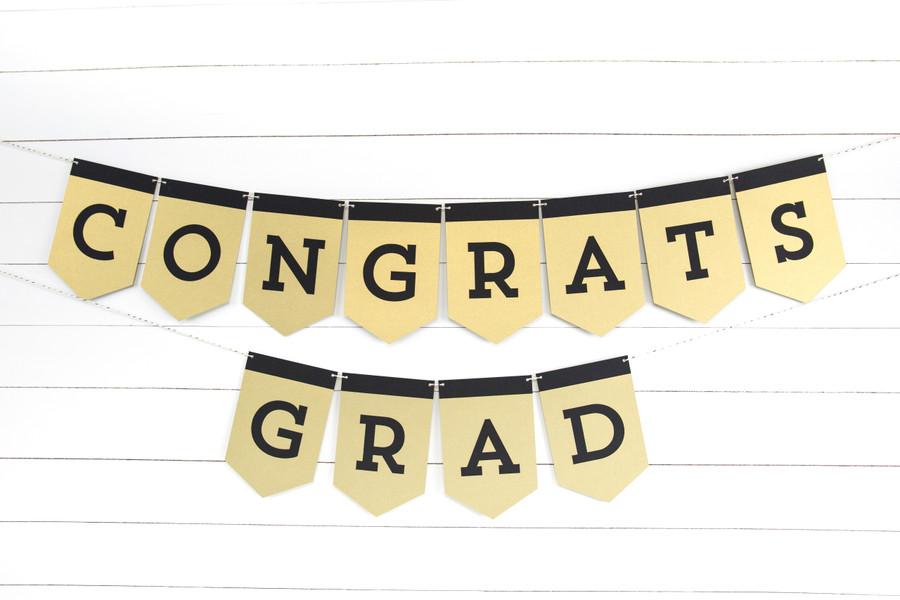 Congrats Grad Banner (4 ft)