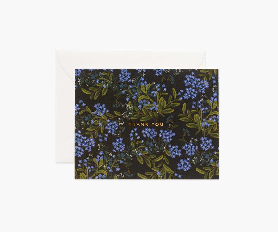 Rifle Paper Co: Cornflower Thank You Card