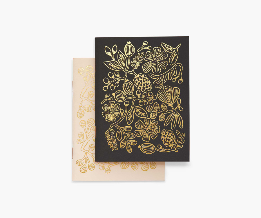 Rifle Paper Co: Gold Foil Set of 2 Notebooks