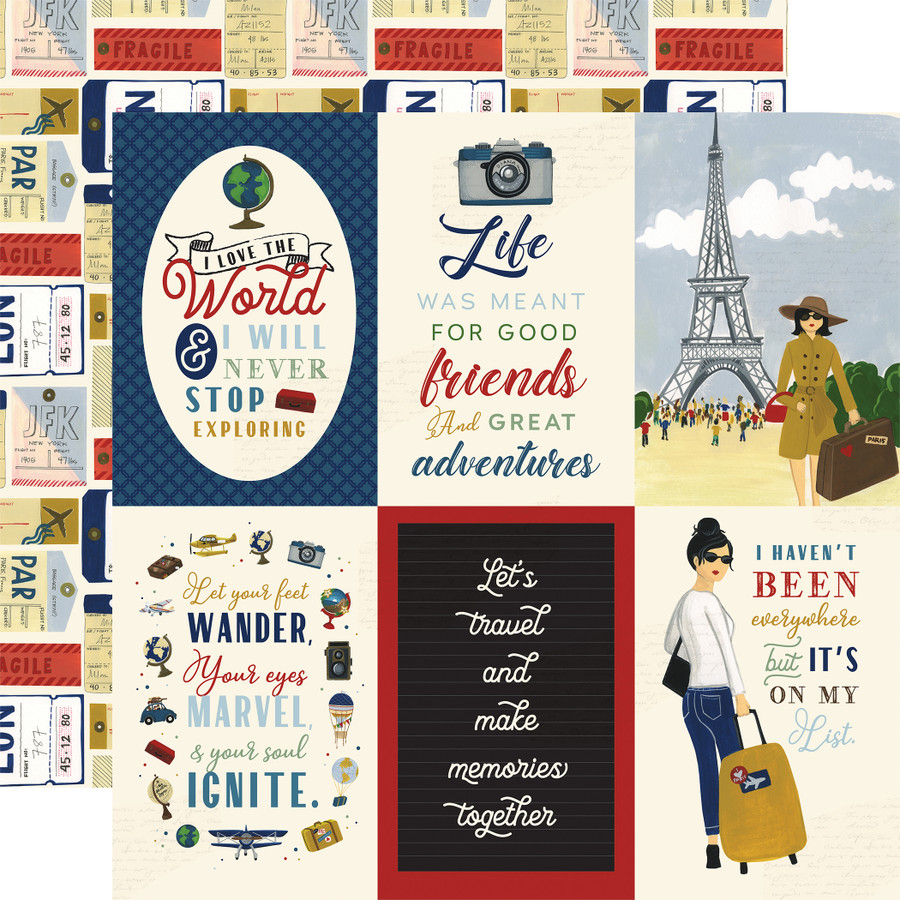 Scenic Route: 4x6 Journaling Cards 12x12 Patterned Paper