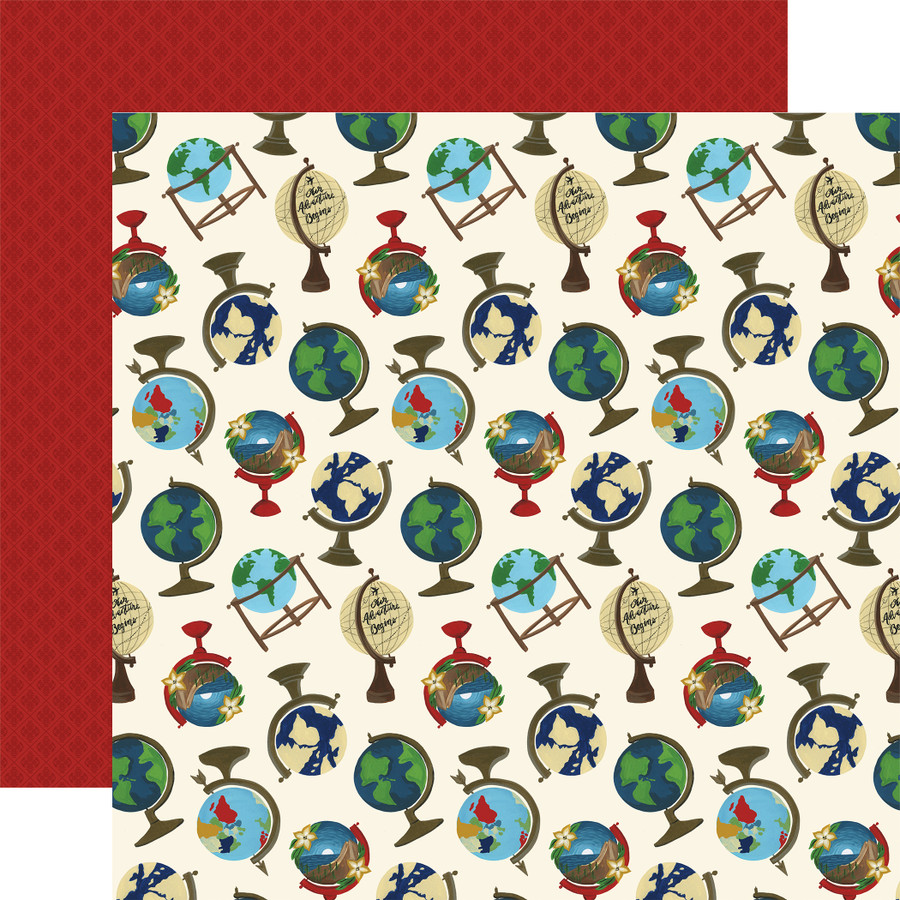 Scenic Route: Globes 12x12 Patterned Paper