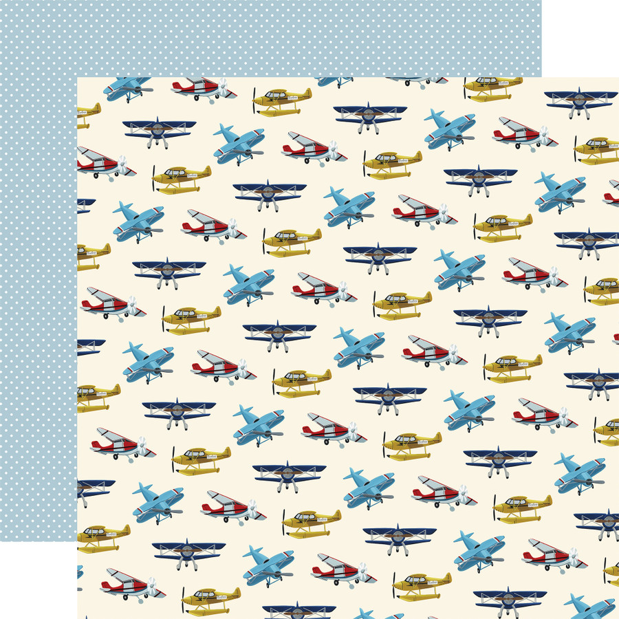 Scenic Route: Airplanes 12x12 Patterned Paper