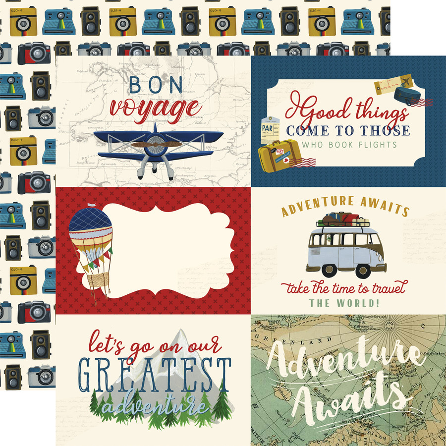 Scenic Route: 6x4 Journaling Cards 12x12 Patterned Paper