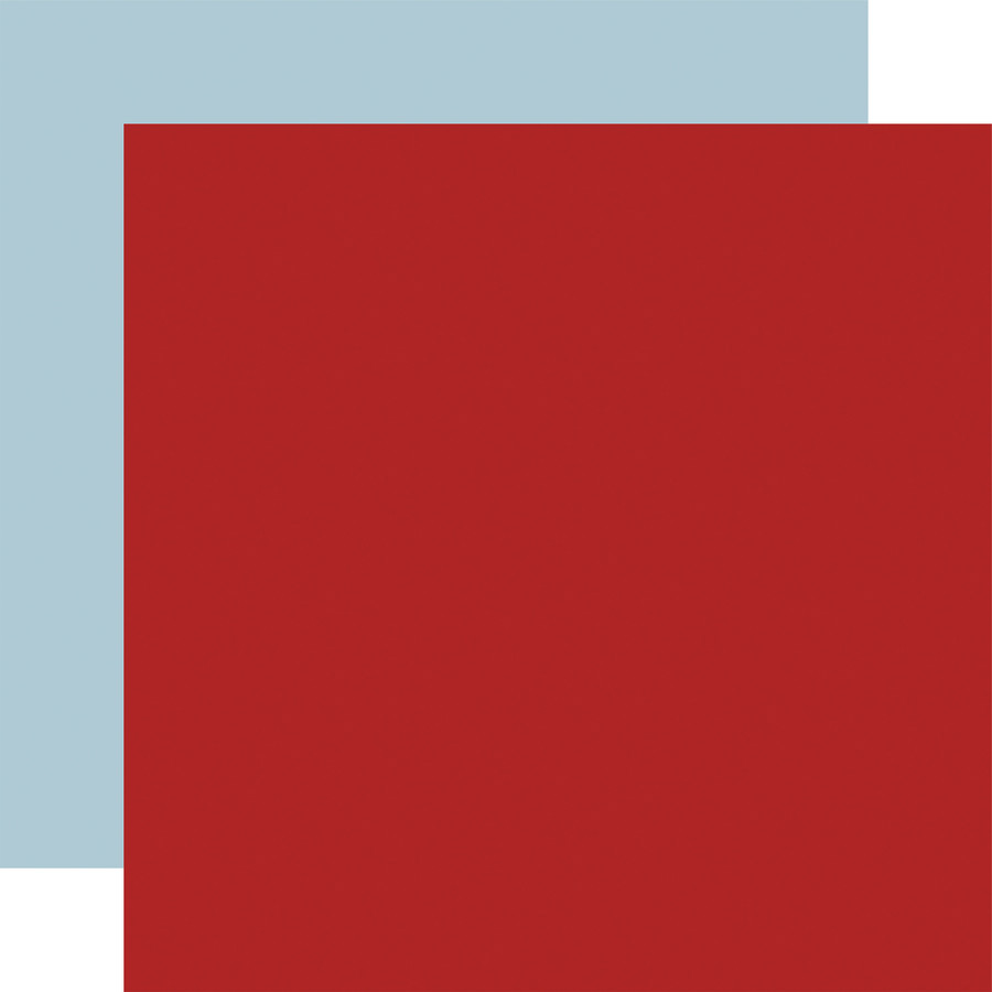 Scenic Route: Red/Sky Blue 12x12 Solid Paper