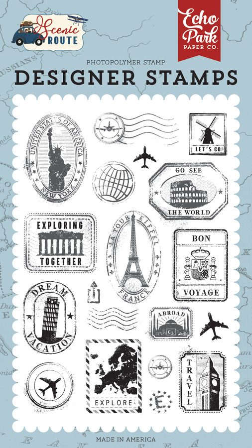 Scenic Route: Travel Stamps Stamp Set