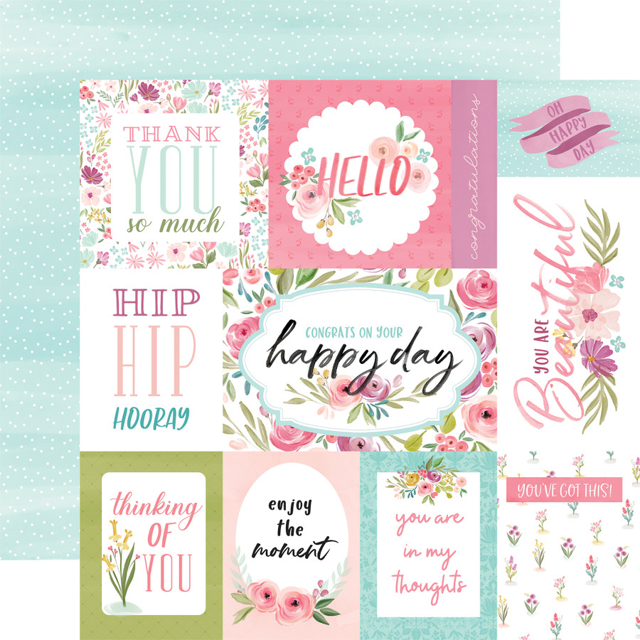 Flora No. 3: Bright Journaling Cards 12x12 Patterned Paper