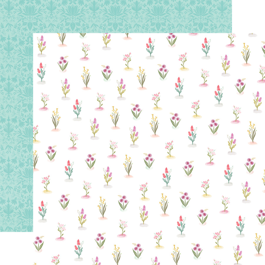 Flora No. 3: Bright Stems 12x12 Patterned Paper