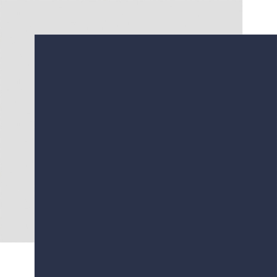 By The Sea: Designer Solids - Navy/Grey 12x12 Patterned Paper