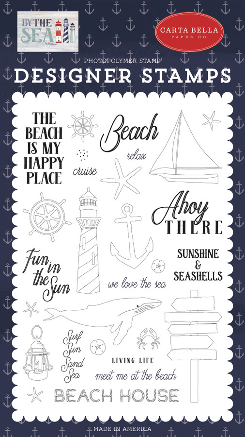 By The Sea: Ahoy There Stamp Set